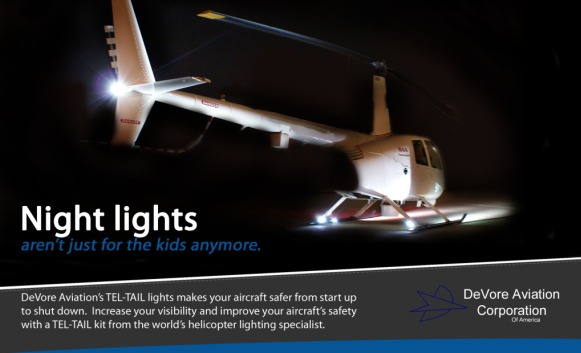DeVore Aviation Tel-Tail Aircraft Vertical Fin Stabilizer Lighting Systems. « » & Aircraft Lighting Systems - DeVore Aviation Corporation of America